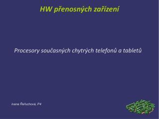HW přenosných zařízení