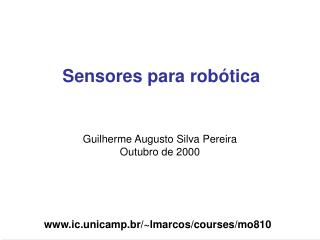 Sensores para robótica