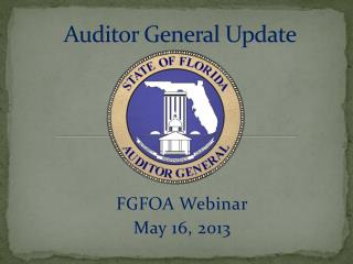 Auditor General Update