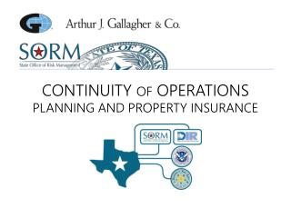 CONTINUITY  OF  OPERATIONS PLANNING AND PROPERTY INSURANCE