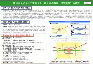 高知市地域公共交通活性化・再生総合事業(調査事業)の概要