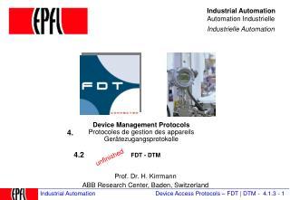 Device Management Protocols Protocoles de gestion des appareils Ger tezugangsprotokolle