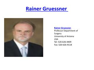 Rainer  Gruessner