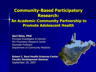 Community-Based Participatory Research:  An Academic-Community Partnership to Promote Adolescent Health