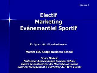 Electif Marketing  Evénementiel Sportif