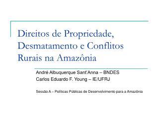Direitos de Propriedade, Desmatamento e Conflitos Rurais na Amazônia