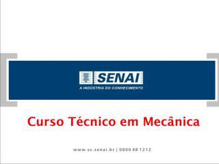 Curso Técnico em Mecânica