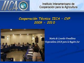 Cooperación Técnica IICA – CVP 2009 - 2010