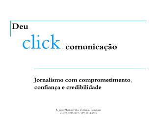 Deu click comunicação