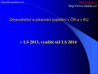 Zdravotnictví a zdravotní pojištění v ČR a v EU