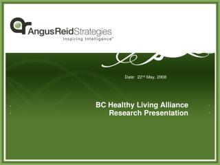 BC Healthy Living Alliance Research Presentation