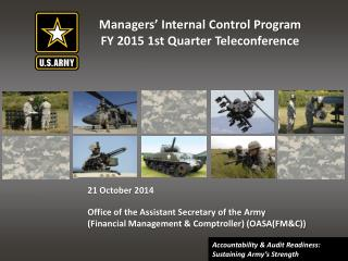 Managers' Internal Control Program FY 2015 1st Quarter Teleconference