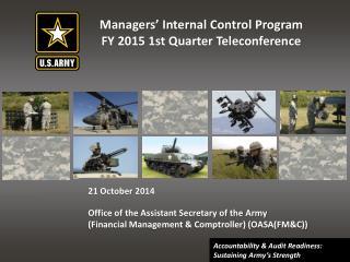 Managers� Internal Control Program FY 2015 1st Quarter Teleconference