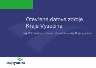 Otevřené datové zdroje Kraje Vysočina