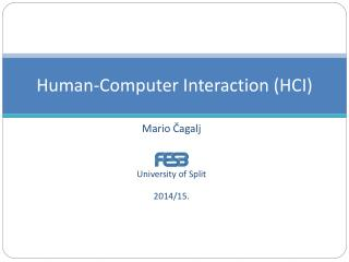 Human-Computer Interaction (HCI)