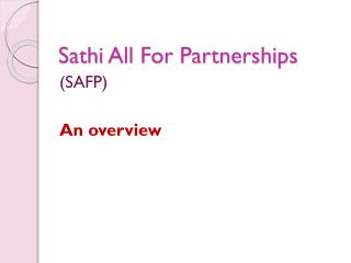 Sathi  All For Partnerships