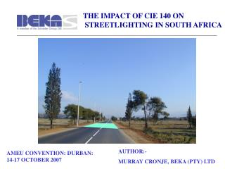 THE IMPACT OF CIE 140 ON  STREETLIGHTING IN SOUTH AFRICA