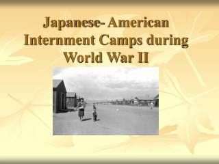 Japanese- American Internment Camps during World War II