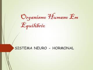 Organismo Humano Em Equil�brio