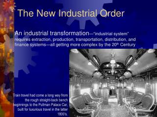 The New Industrial Order