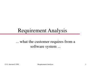 Requirement Analysis