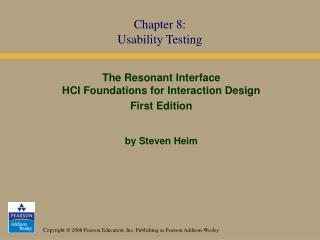 Chapter 8: Usability Testing