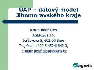 ÚAP – datový model Jihomoravského kraje