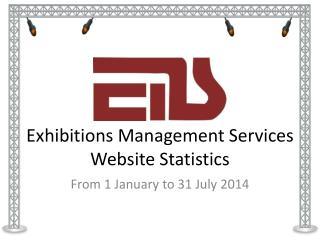 Exhibitions Management Services Website Statistics