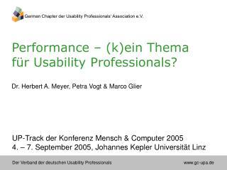 Performance – (k)ein Thema für Usability Professionals?