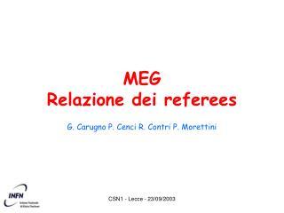 MEG Relazione dei referees