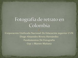 Fotografía de retrato en Colombia