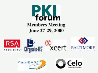Members Meeting June 27-29, 2000