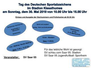 Tag des Deutschen  Sportabzeichens im Stadion  Kieselhumes