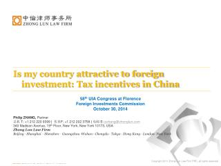 58 th  UIA Congress at Florence Foreign Investments Commission October 30, 2014