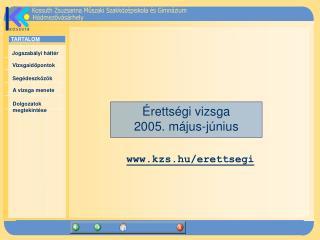 Érettségi vizsga 2005. május-június