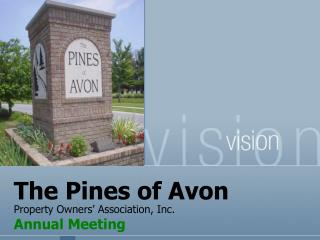 The Pines of Avon