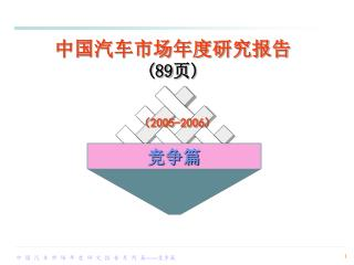 中国汽车市场年度研究报告 (89 页 )