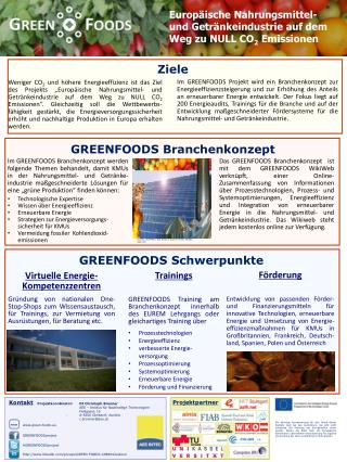 Europäische Nahrungsmittel -  und  Getränkeindustrie auf  dem Weg zu  NULL CO 2 Emissionen
