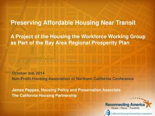 October 3rd, 2014 Non-Profit  Housing Association of Northern California Conference