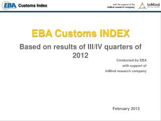 EBA  Customs INDEX