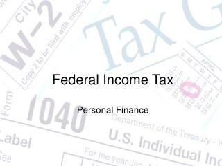 Federal Income Tax Personal Finance