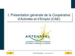 I. Présentation générale de la Coopérative d'Activités et d'Emploi (CAE)