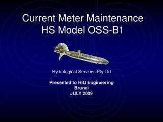 Current Meter Maintenance HS Model OSS-B1