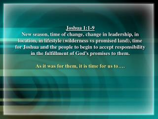 Joshua 1:1-9