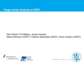 Target  stress Analysis  at DESY