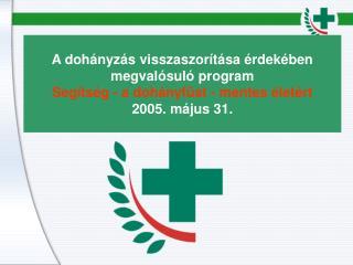 A dohányzás visszaszorítása érdekében megvalósuló program