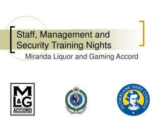 Staff, Management and Security Training Nights