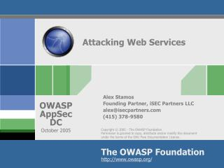 Attacking Web Services