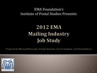 EMA Foundation's  Institute of Postal Studies Presents: