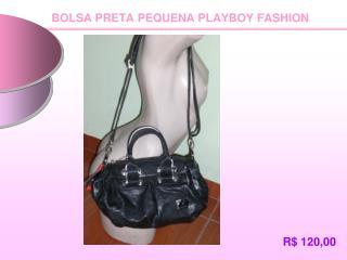 BOLSA PRETA PEQUENA PLAYBOY FASHION